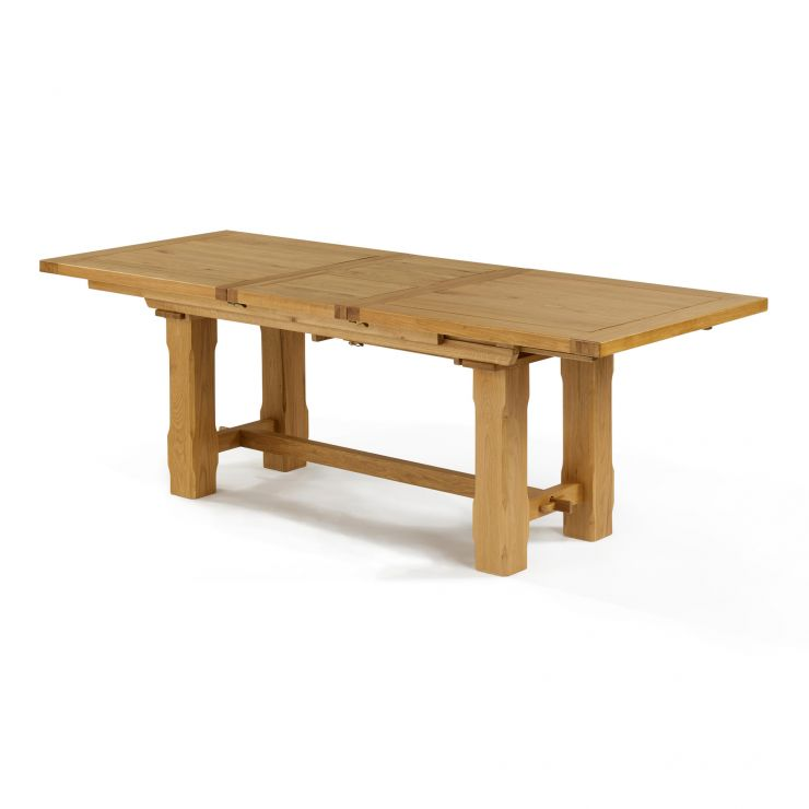 "Rhodes Natural Solid Oak 9ft 2"" Extending Dining Table"