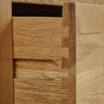 Rivermead Natural Solid Oak 2 Drawer Bedside Table - Thumbnail 3