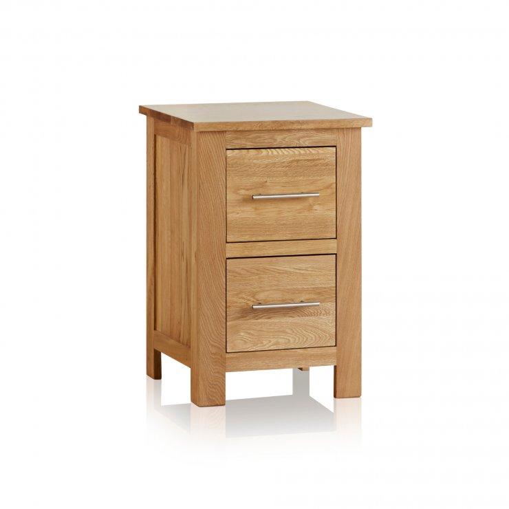 Rivermead Natural Solid Oak 2 Drawer Bedside Table - Image 4
