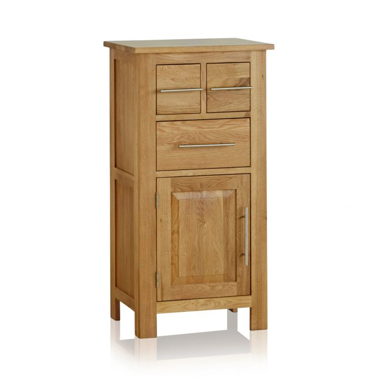 Rivermead Natural Solid Oak 3 Drawer Storage Unit - Image 1