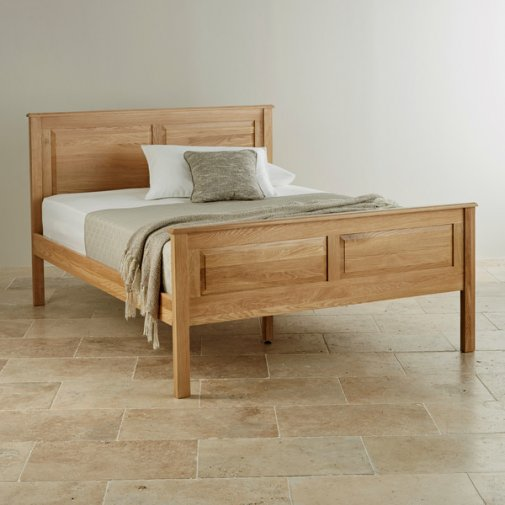 """Rivermead Natural Solid Oak 4ft 6"""" Double Bed"""