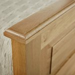 Rivermead Natural Solid Oak 5ft King-Size Bed - Thumbnail 4