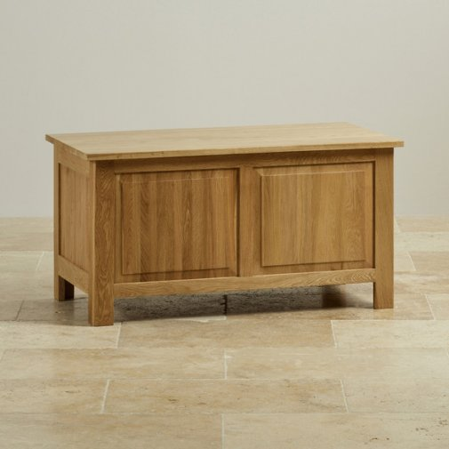 Rivermead Natural Solid Oak Blanket Box