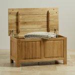 Rivermead Natural Solid Oak Blanket Box - Thumbnail 2