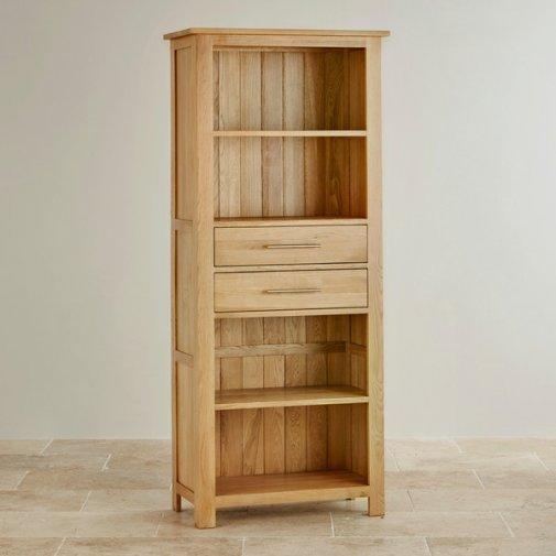 Rivermead Natural Solid Oak Tall Bookcase