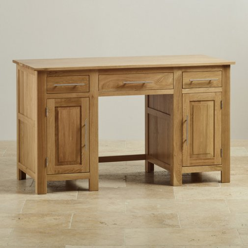 Rivermead Natural Solid Oak Computer Desk