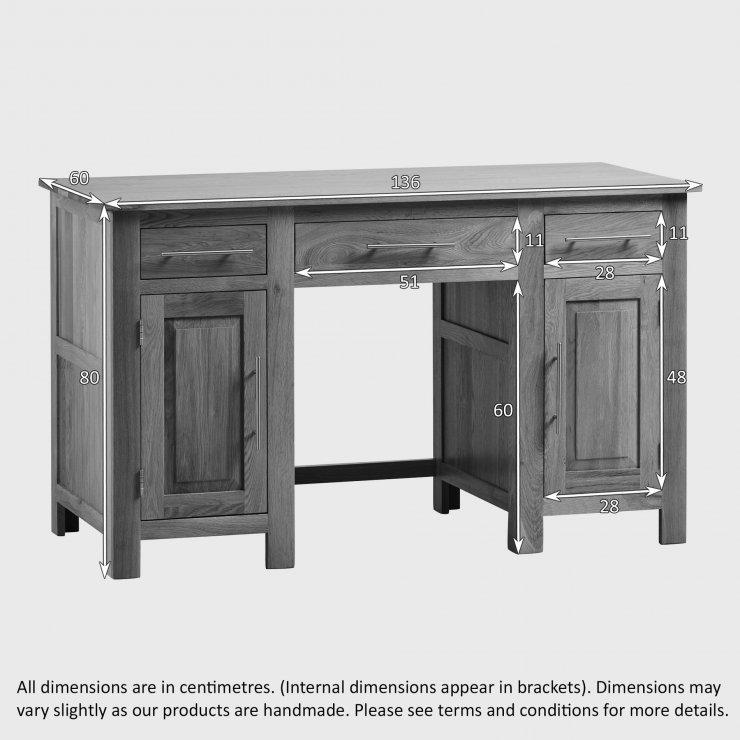 Rivermead Natural Solid Oak Computer Desk