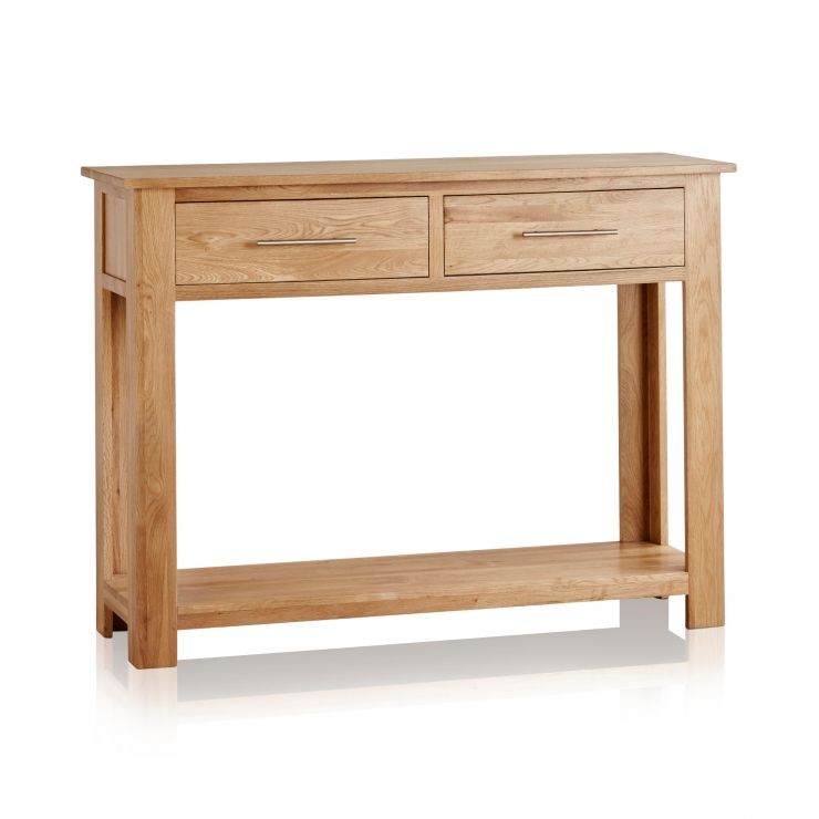 Rivermead Natural Solid Oak Console Table - Image 5