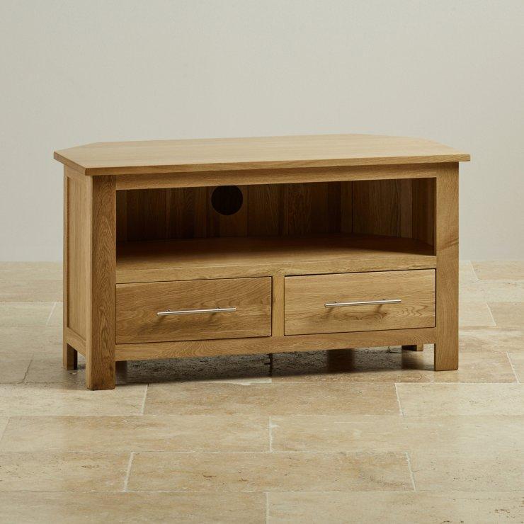 Rivermead Natural Solid Oak Corner TV Cabinet