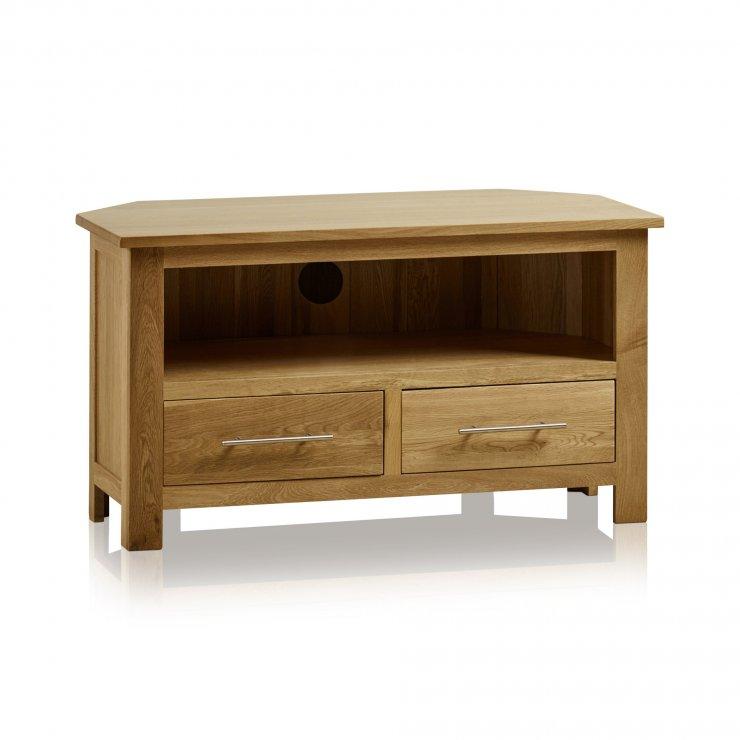 Rivermead Natural Solid Oak Corner TV Cabinet - Image 4