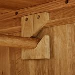 Rivermead Natural Solid Oak Double Wardrobe - Thumbnail 5