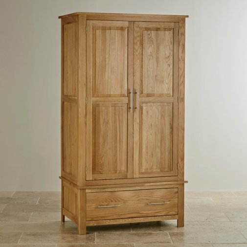 Rivermead Natural Solid Oak Double Wardrobe