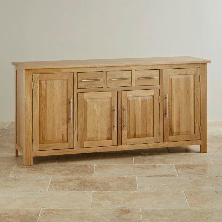 Rivermead Natural Solid Oak Large Sideboard Oak