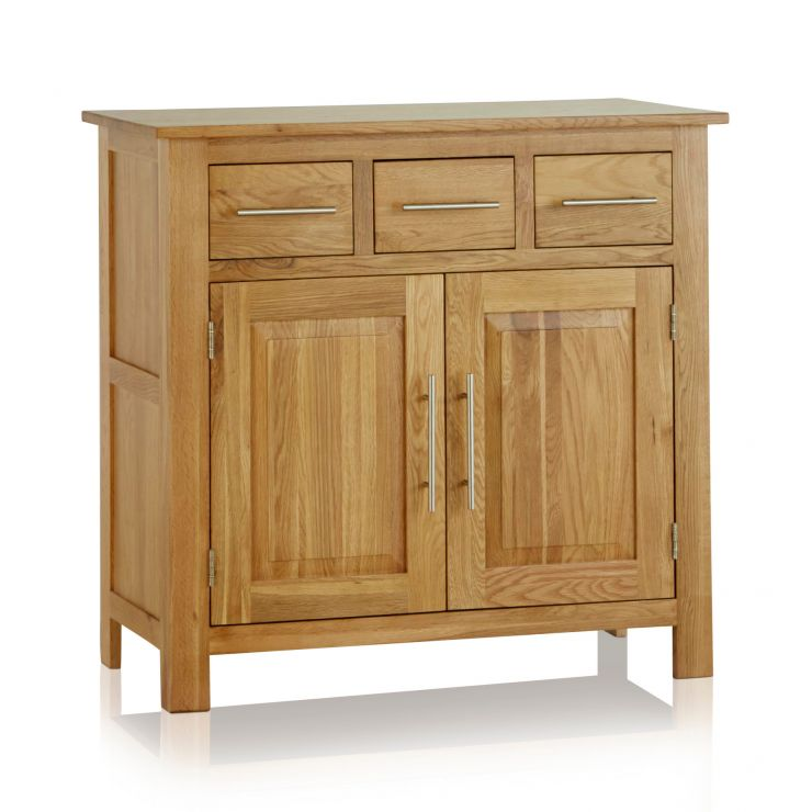 Rivermead Natural Solid Oak Small Sideboard - Image 5