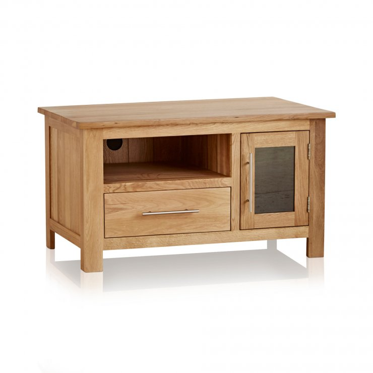 Rivermead Natural Solid Oak Small TV Cabinet - Image 5