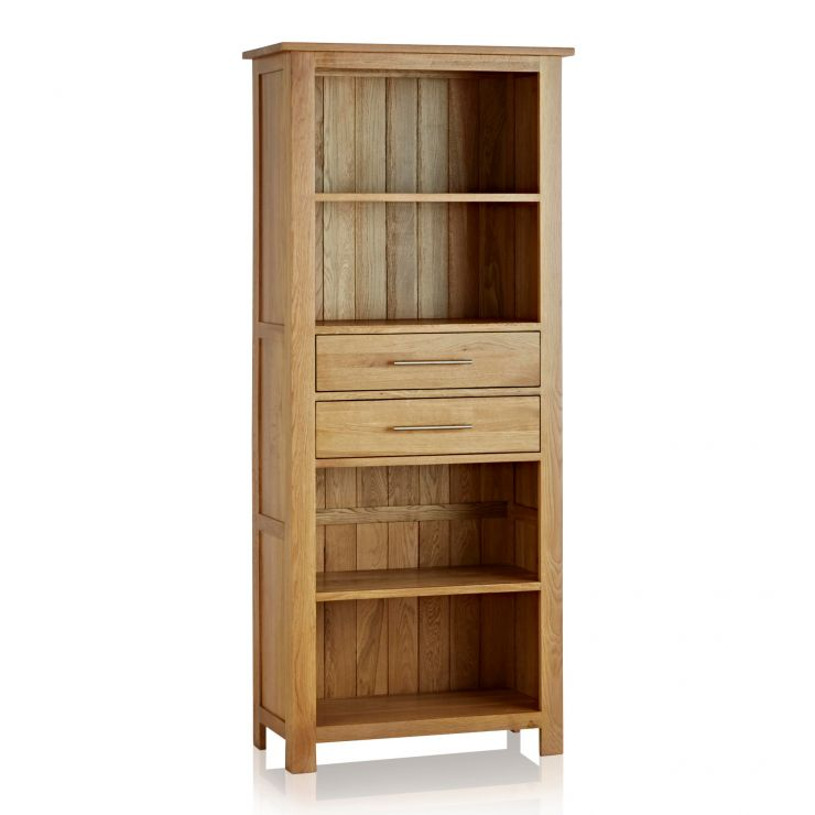 Rivermead Natural Solid Oak Tall Bookcase - Image 5
