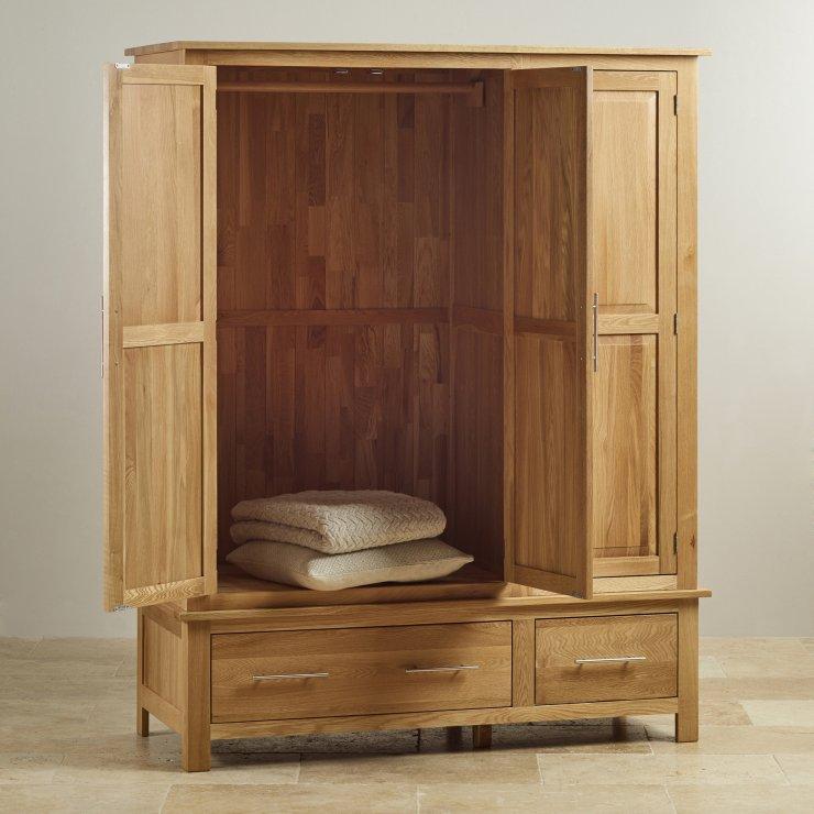 Rivermead Natural Solid Oak Triple Wardrobe