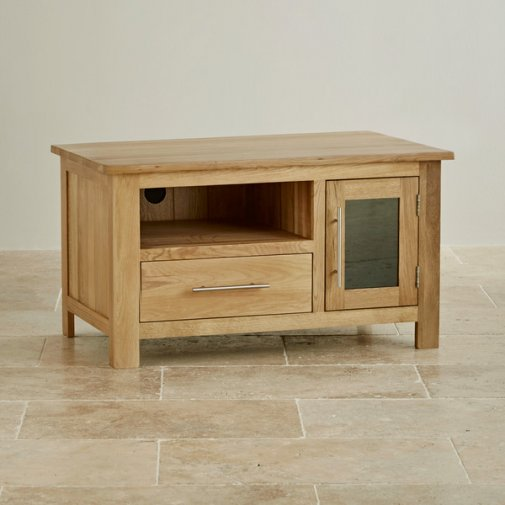 Rivermead Natural Solid Oak Small TV Cabinet
