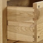 Rivermead Natural Solid Oak Small TV Cabinet - Thumbnail 4
