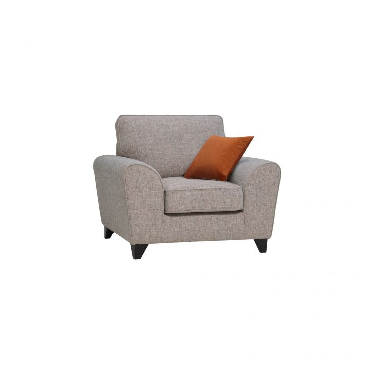 Robyn Armchair Pebble Fabric with Rust Scatters