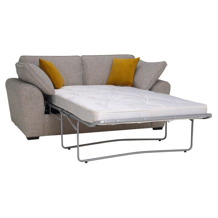 Robyn Pebble 2 Seater Deluxe Sofa Bed with Mustard Scatters