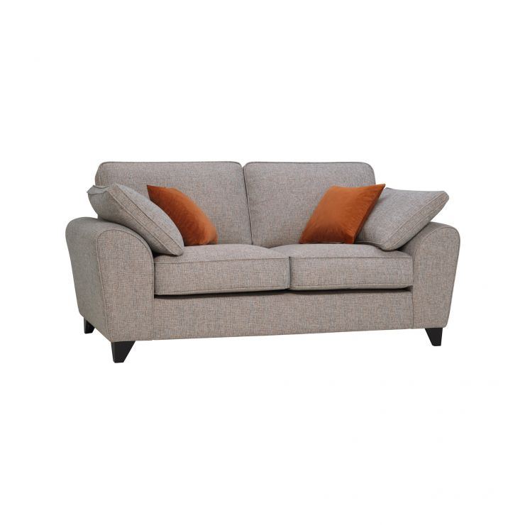 Robyn Pebble Fabric 2 Seater Sofa with Rust Scatters