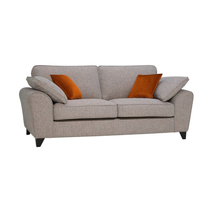 Robyn Pebble Fabric 3 Seater Sofa with Rust Scatters - Image 1