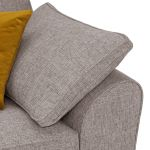 Robyn Pebble Fabric 4 Seater Sofa with Mustard Scatters - Thumbnail 6