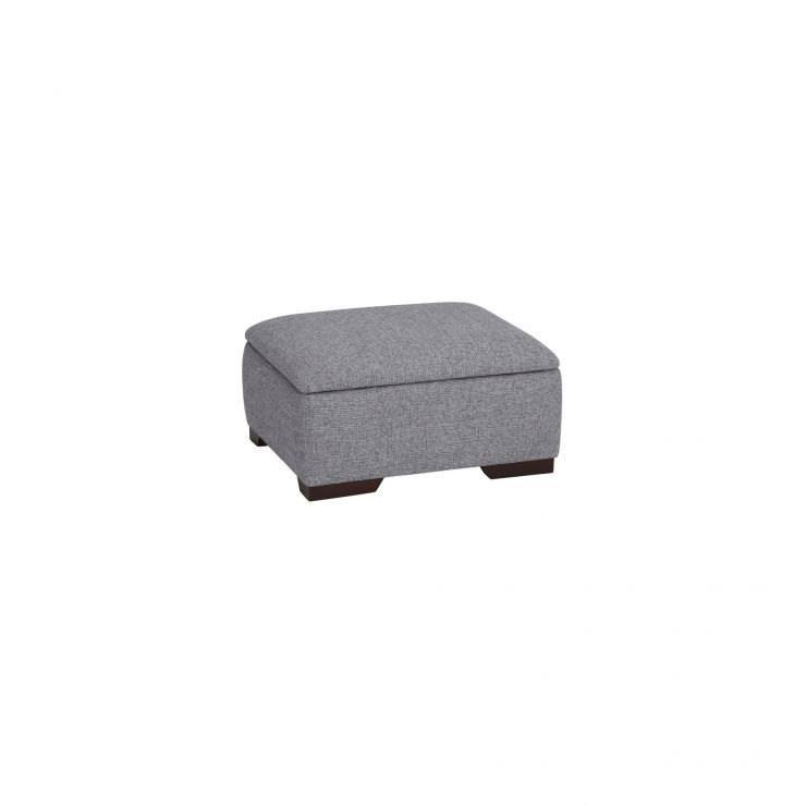 Robyn Silver Storage Footstool - Image 1