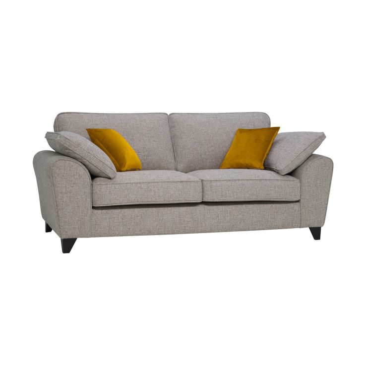 Robyn Spa Fabric 3 Seater Sofa with Mustard Scatters