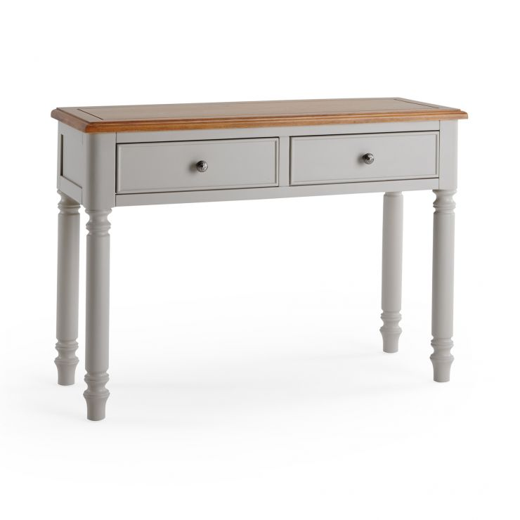 Roman Rustic Solid Oak & Painted Console Table