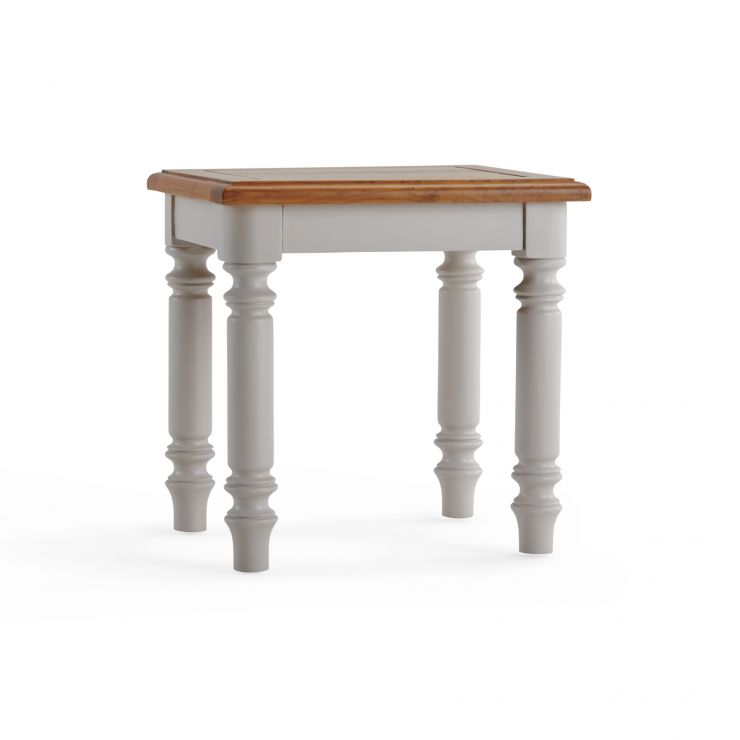 Roman Rustic Solid Oak & Painted Dressing Stool