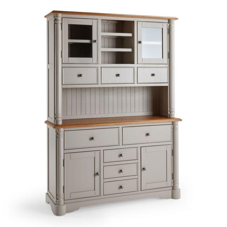Roman Rustic Solid Oak & Painted Large Dresser