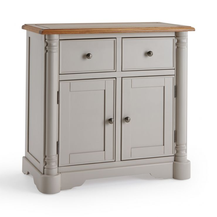 Roman Rustic Solid Oak & Painted Small Sideboard