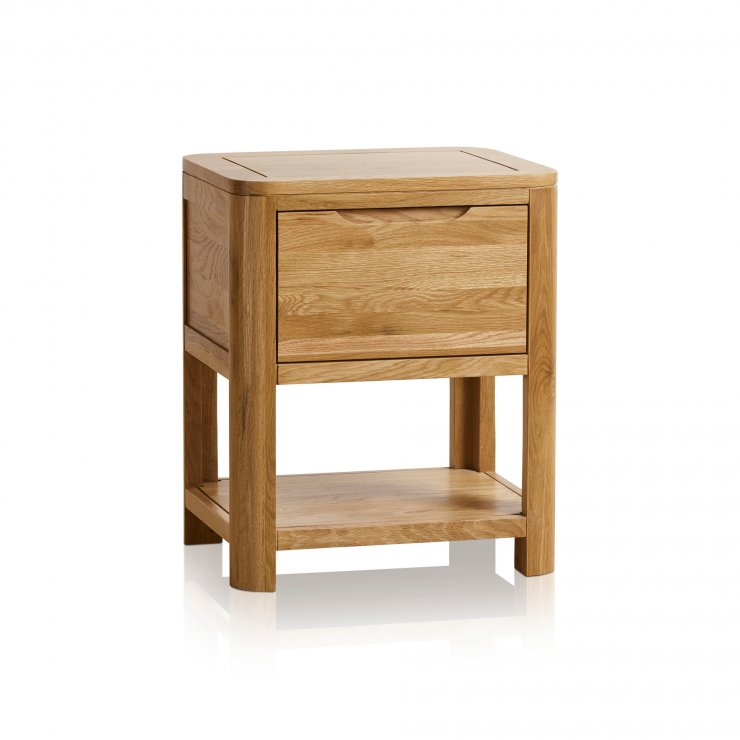 Romsey Natural Solid Oak 1 Drawer Bedside  - Image 5