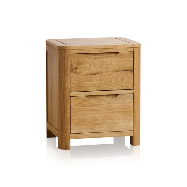 Romsey Natural Solid Oak 2 Drawer Bedside
