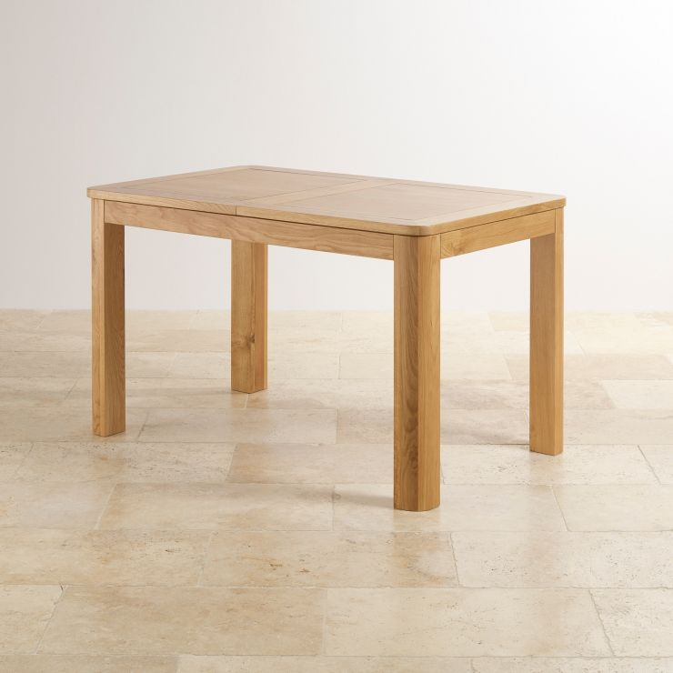 """Romsey Natural Solid Oak 4ft 3"""" Extending Dining Table - Image 7"""