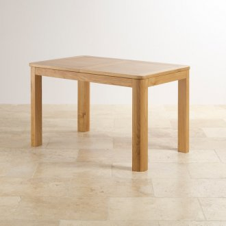 "Romsey Natural Solid Oak 4ft 3"" Extending Dining Table"