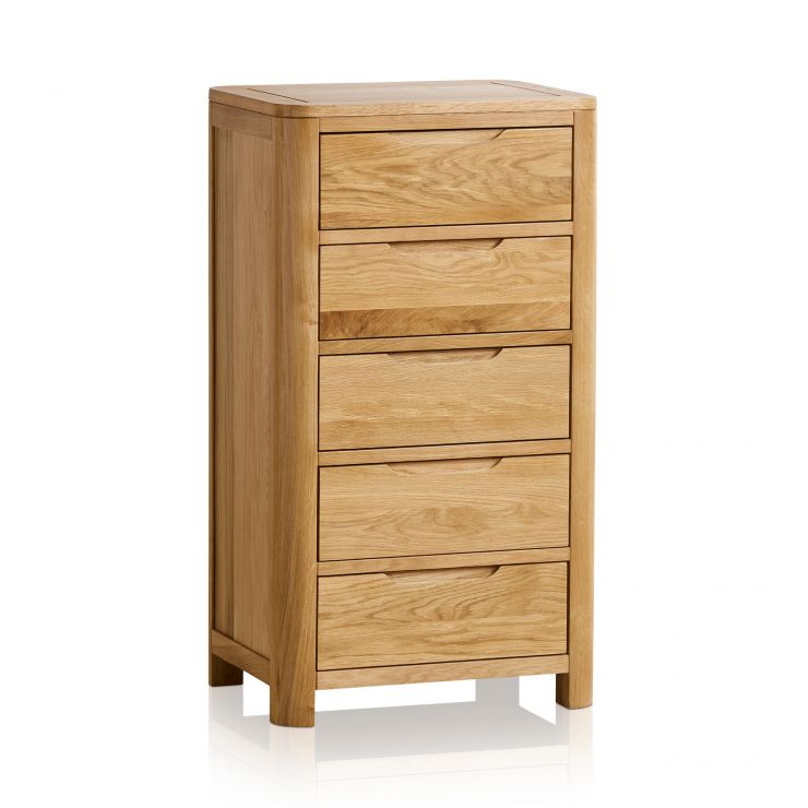 Romsey Natural Solid Oak 5 Drawer Chest
