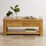 Romsey Natural Solid Oak Coffee Table - Thumbnail 4