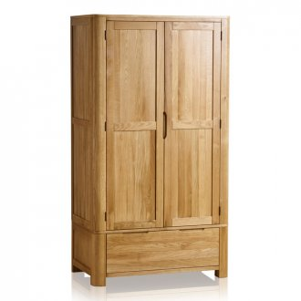 Romsey Natural Solid Oak Double Wardrobe