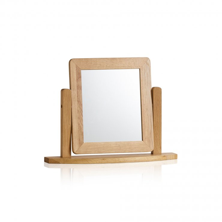 Romsey Natural Solid Oak Dressing Table Mirror - Image 3