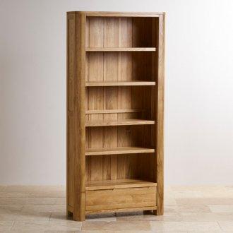 Romsey Natural Solid Oak Large Bookcase