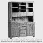 Romsey Natural Solid Oak Large Dresser - Thumbnail 3