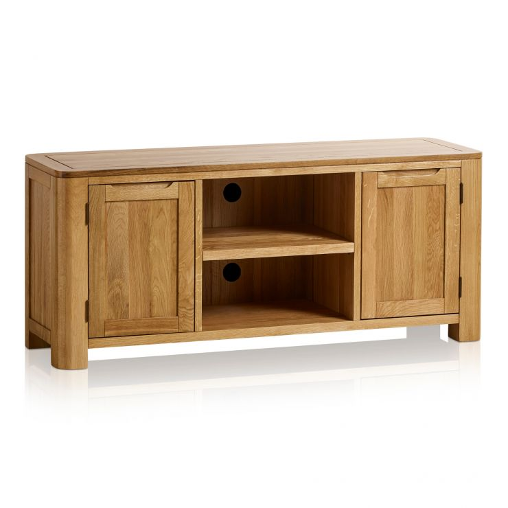 Romsey Natural Solid Oak Large TV Unit - Image 5