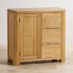 Romsey Natural Solid Oak Storage Cabinet - Thumbnail 2