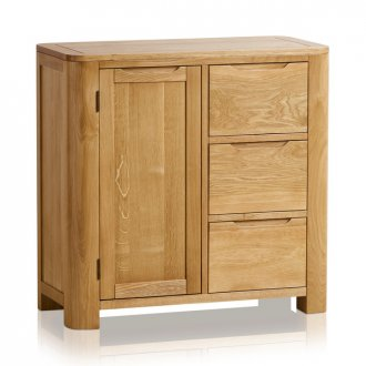 Romsey Natural Solid Oak Storage Cabinet