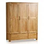 Romsey Natural Solid Oak Triple Wardrobe - Thumbnail 1
