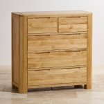 Romsey Natural Solid Oak 2+3 Chest of Drawers - Thumbnail 2