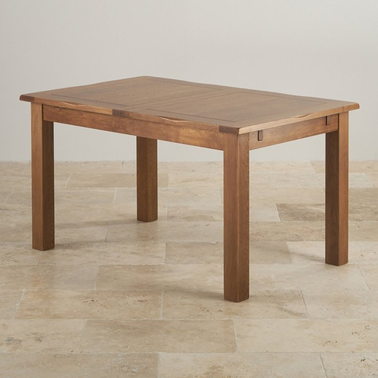 """Rushmere Rustic Solid Oak 4ft 7"""" x 3ft Extending Dining Table - Image 3"""